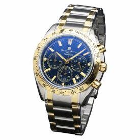 取寄品 正規品 Salvatore Marra 腕時計 サルバトーレマーラ SM18106-SSBLGD クロノグラフ カラーガラス 防水 メンズ腕時計 送料無料