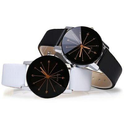 煌めくカットガラスとストーンインデックスが高級感を感じさせる 大人な女性のシンプルクォーツ レザーベルト SPST002 レディース腕時計 auktn 送料無料
