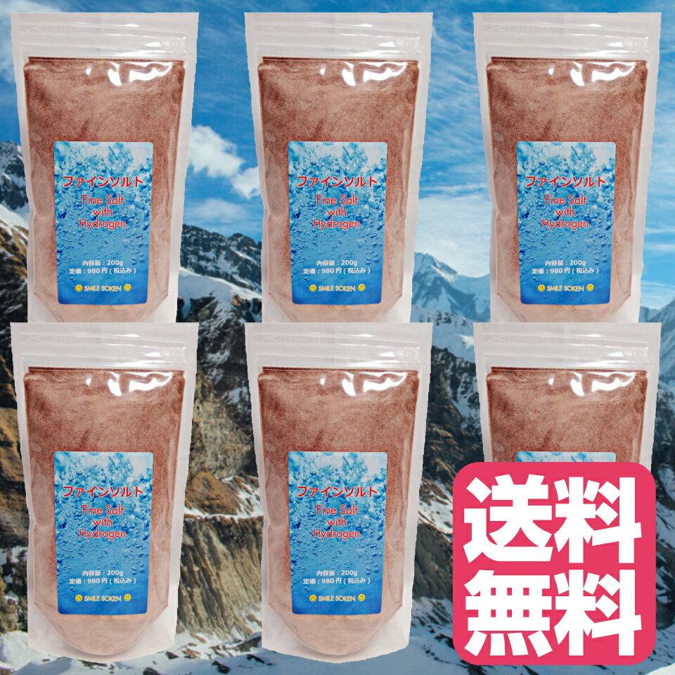 送料無料 6個セット 徳用 食用 岩塩 小粒 ミネラル と 水素 を 豊富に含む 天然岩塩 ファインソルト 食べる塩 減塩 デトックス ダイエット 美容 健康 手土産 贈答 返礼品 粉末 ヒマラヤ岩塩