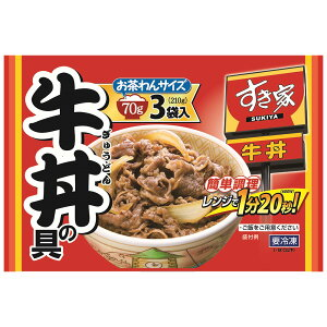[冷凍]すき家 牛丼の具 (70g×3食)×5袋 | 送料無料