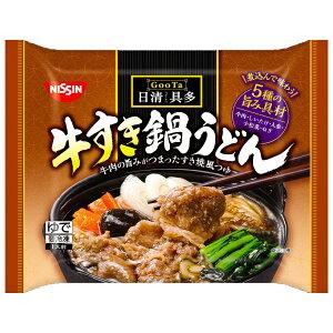 [冷凍]日清 日清具多 牛すき鍋うどん 290×14個 | 日清 日清食品 冷凍 冷凍うどん 冷凍麺 ランチ