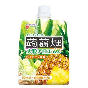 マンナンライフ 大粒アロエinクラッシュタイプの蒟蒻畑 パイナップル味 150g×30個