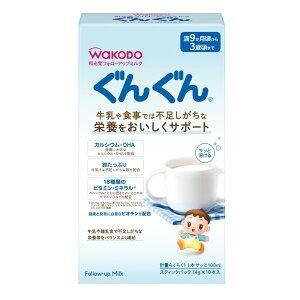 アサヒグループ食品 フォローアップミルク ぐんぐん スティックパック 14g×10×6個 | ミルク 粉ミルク 育児用 はいはい 母乳 DHA アラキドン酸 オリゴ糖 ガラクトオリゴ糖 ラクトグロブリン 赤