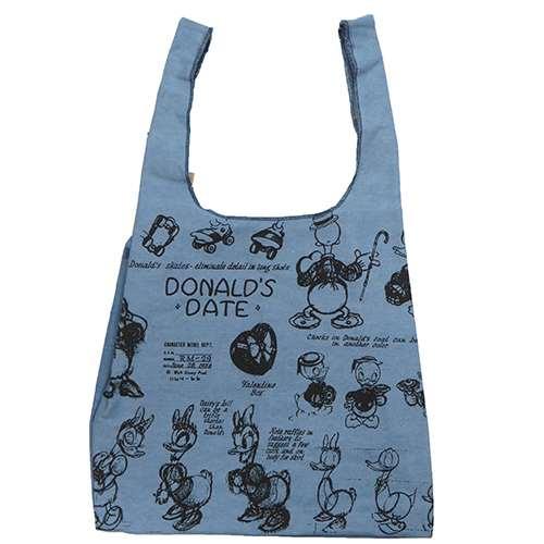 ドナルド&デイジー エコバッグ デニムショッピングバッグ ディズニー キャラクターグッズ ファッション小物 通販