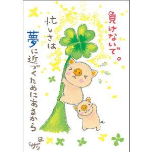 絵描きサリー ポストカード 【ブタ】絵葉書《SSA-48》【ネコポス可】