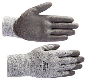 BD 501 ノンカットグリップ(120双) ガラスや刃物などの切裂きに強いPUコート手袋 プリカチューブ電線管のカット プリカナイフ作業 耐切創保護手袋 ヨーロッパCE規格(EN388) レベル5 防刃手袋