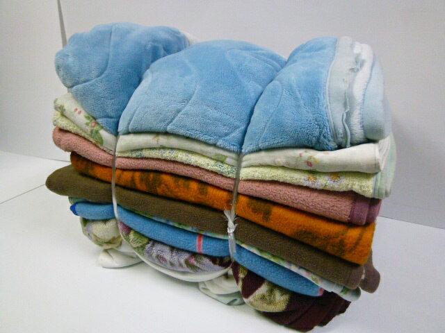 中古毛布(10枚セット) 約130cm×約180cm 古毛布 養生毛布 作業毛布 リサイクル毛布 運送 塗装 引越し ペット 犬猫 防寒 ガラス 額縁 楽器 保護 下敷き 緩衝 梱包 マット シート 舗装工事 古い毛布 あて布団 毛布販売