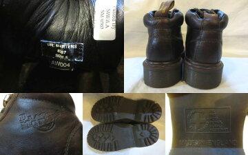 【送料無料】【あす楽】【中古】US古着イングランド製Dr.Martensドクターマーチン本革レザーミドルカットブーツダークブラウンUK524cm相当