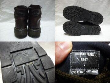 【送料無料】【あす楽】【中古】US古着Dr.Martensドクターマーチン本革レザーブーツダークブラウンUK26.5cm相当英国製/メンズレディース