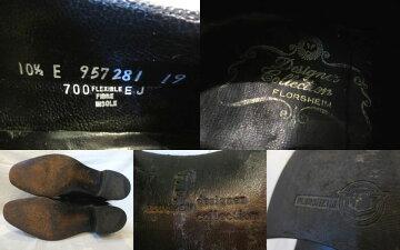 【送料無料】【あす楽】【中古】US古着FLORSHEIMdesignercollectionフローシャイム本革レザーウィングチップタッセルローファーブラックUS10.528.5cm