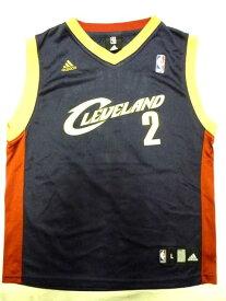 【送料無料】【あす楽】【中古】 adidas アディダス バスケタンク ネイビー×レッド×ベージュ×ゴールド Boy's L Cleveland NBA