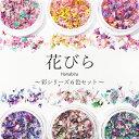 【花びら】彩シリーズ6色セット (各約0,1g入り)100%国産で高品質 花びら!豊富なカラーバリエーション/ ネイルアー…