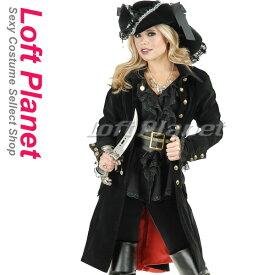 パイレーツのセクシーな海賊コスプレ ヴィクセンのハロウィン仮装衣装 黒のレディース・コスチューム豪華6点セット M1-P4715