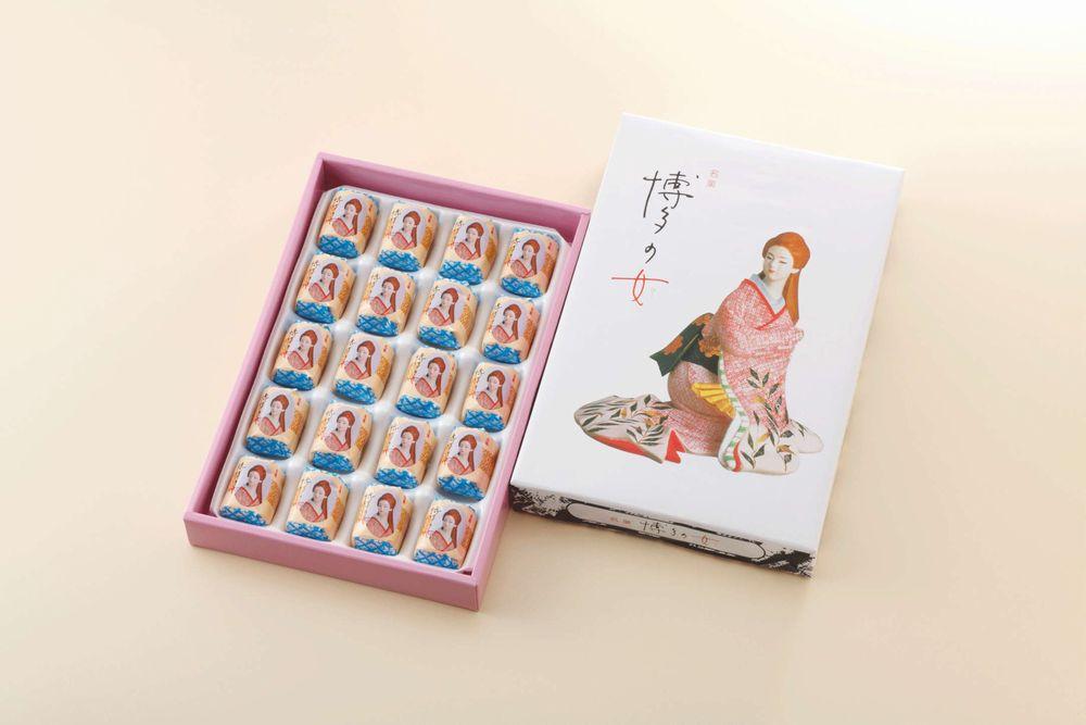 【二鶴堂】博多の女 20個【九州福岡土産】