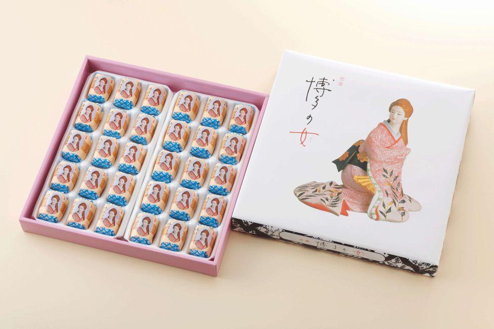 【二鶴堂】博多の女 30個【九州福岡土産】