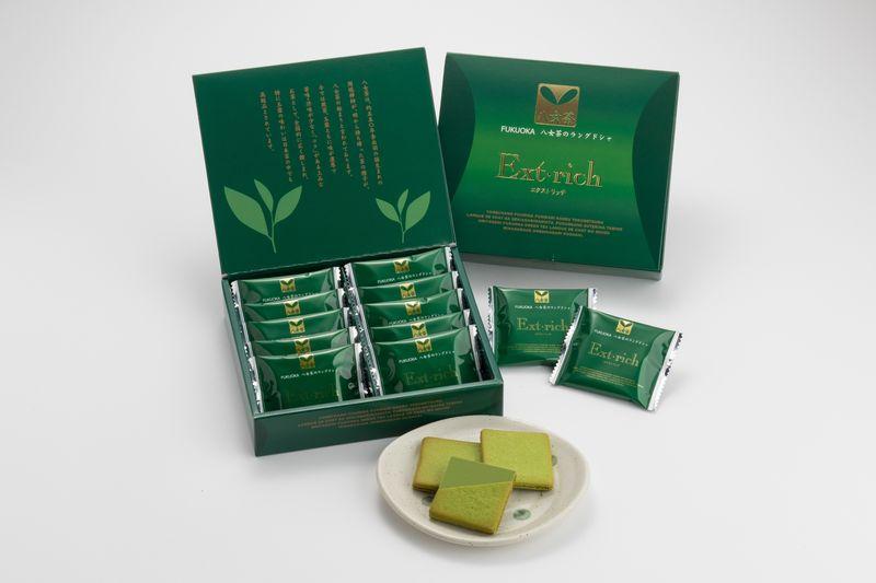 【花福堂】福岡八女茶のラングドシャ エクストリッチ 10枚【九州福岡土産】