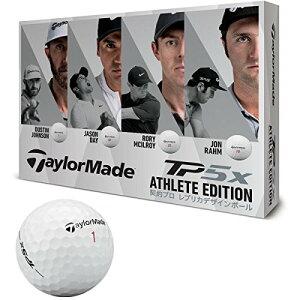 TAYLOR MADE(テーラーメイド) ゴルフボール TP5X ゴルフボール12個入り 2018年モデルATHLETE EDITION LTD ボールカラーホワイト メンズ B1362201 ホワイト ディンプル:322シームレス カバー:ウレタン