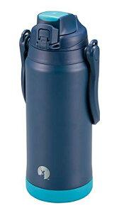 キャプテンスタッグ(CAPTAIN STAG) スポーツボトル 水筒 直飲み ダブルステンレスボトル 真空断熱 保冷 HDウォータージャグ 2.3L スポーツドリンク対応 ショルダーベルト付き ネイビー UE-3501