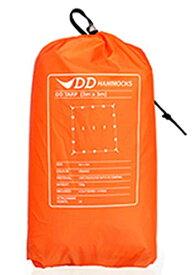 DD Hammocks DD Tarp 3x3 正方形 耐水性 3000mm ハンモックのフライに最適なタープ (サンセットオレンジ)