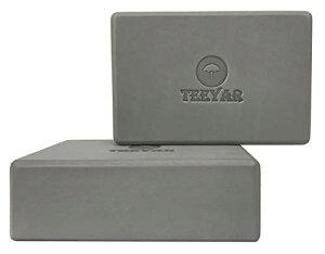 ヨガブロック 2個セット 2サイズ 【高密度200g/300g】 全30色 初心者/上級な ヨガぶろっく(3年保証) (Yoga Block Set) (厚さ7.2cm/グレー)