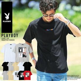 【さらに10%OFF】◆PLAYBOY (プレイボーイ) ロゴTシャツ◆Tシャツ 半袖 メンズ 半袖T プリントTEE トップス カットソー ブランド カジュアル メンズファッション