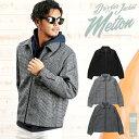 ◆メルトンスウィングトップ◆ジャケット アウター メルトン メンズ ブルゾン スイングトップ チェック 防寒 カジュアル メンズファッション