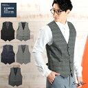◆T/Rストレッチジレ◆ベスト ジレ メンズ ジレベスト ビジカジ ビジネス フォーマル トップス メンズファッション【2…