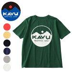 KAVU/カブーサークルロゴTee19821020【Tシャツ/アウトドア】【メール便・代引不可】