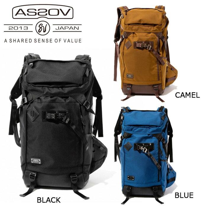 アッソブ AS2OV バックパック EXCLUSIVE BALLISTIC NYLON BACK PACK/BLACK/CAMEL/BLUE/061301-10/061301-24/061301-70 【カバン】日本正規品