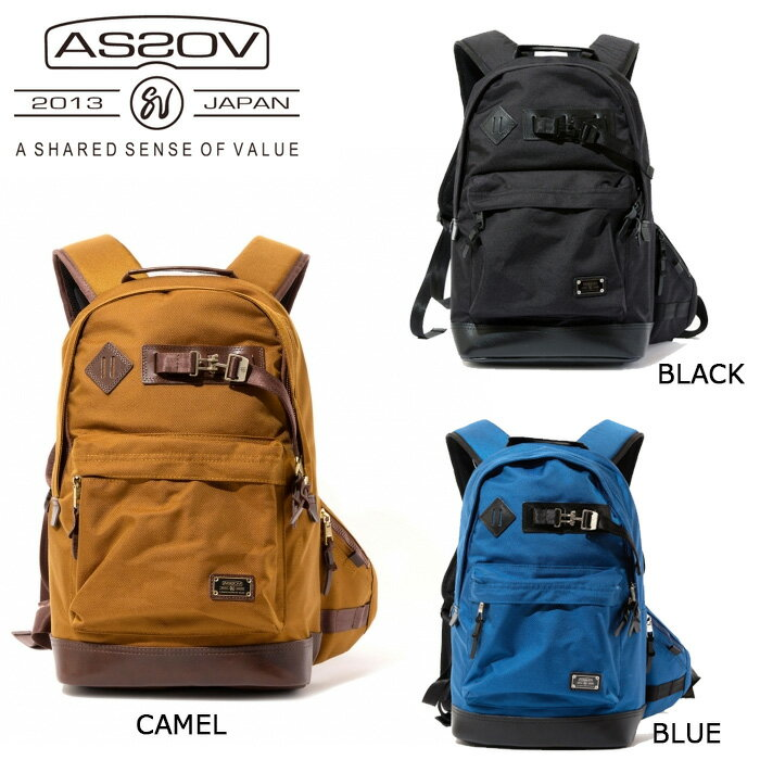 アッソブ AS2OV バックパック EXCLUSIVE BALLISTIC NYLON DAY PACK/BLACK/CAMEL/BLUE/061302-10/061302-24/061302-70 【カバン】日本正規品