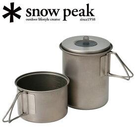 Snow Peak スノーピーク クッカー ソロセットチタン SCS-004TR 【BBQ】【CKKR】【SP-COOK】