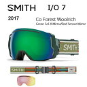 2017 スミス SMITH OPTICS ゴーグル I/O 7 Co Forest Woolrich Green Sol-X Mirror/Red Senso...