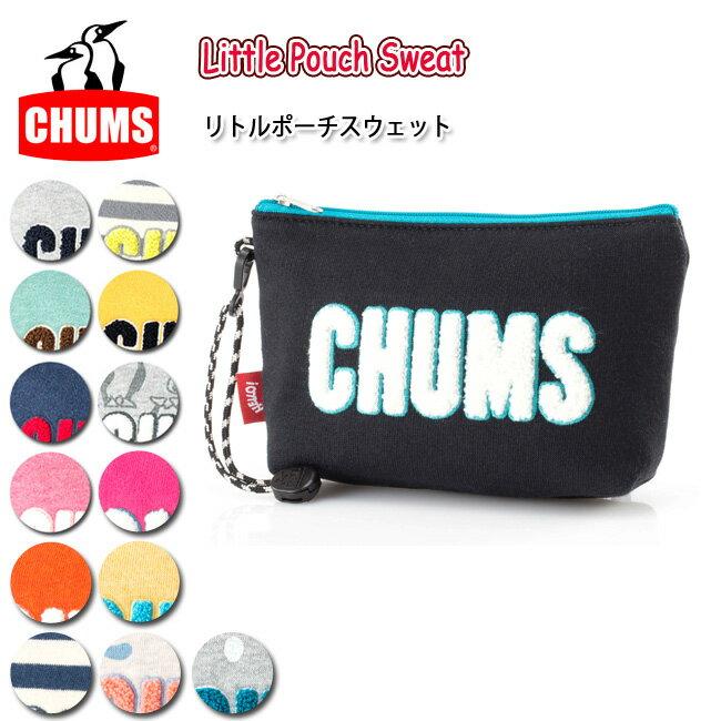 チャムス chums ポーチ Little Pouch Sweat リトルポーチスウェット CH60-2411 【雑貨】バッグインバッグ 小物入れ【メール便・代引不可】
