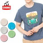 チャムスchumsTシャツHappyCampT-ShirtハッピーキャンプTシャツCH01-1355メンズ正規品【服】【t-cnr】【メール便発送・代引き不可】
