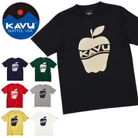 KAVU カブー メンズ アップルT 19820233 【半袖/Tシャツ/カラー/果物】【メール便・代引不可】
