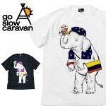 goslowcaravanゴースローキャラバンゾウフェスTEE380805【Tシャツアウトドアフェス】