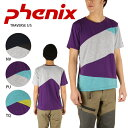 PHENIX フェニックス Tシャツ TRAVERSE S/S PH312TS22 NV/PU/TQ【t-cnr】