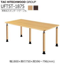テーブル 高さ調節 ダイニングテーブル キャスター 業務用 病院 介護 福祉施設 オフィス家具 木製 UFT-5T1875 送料無料