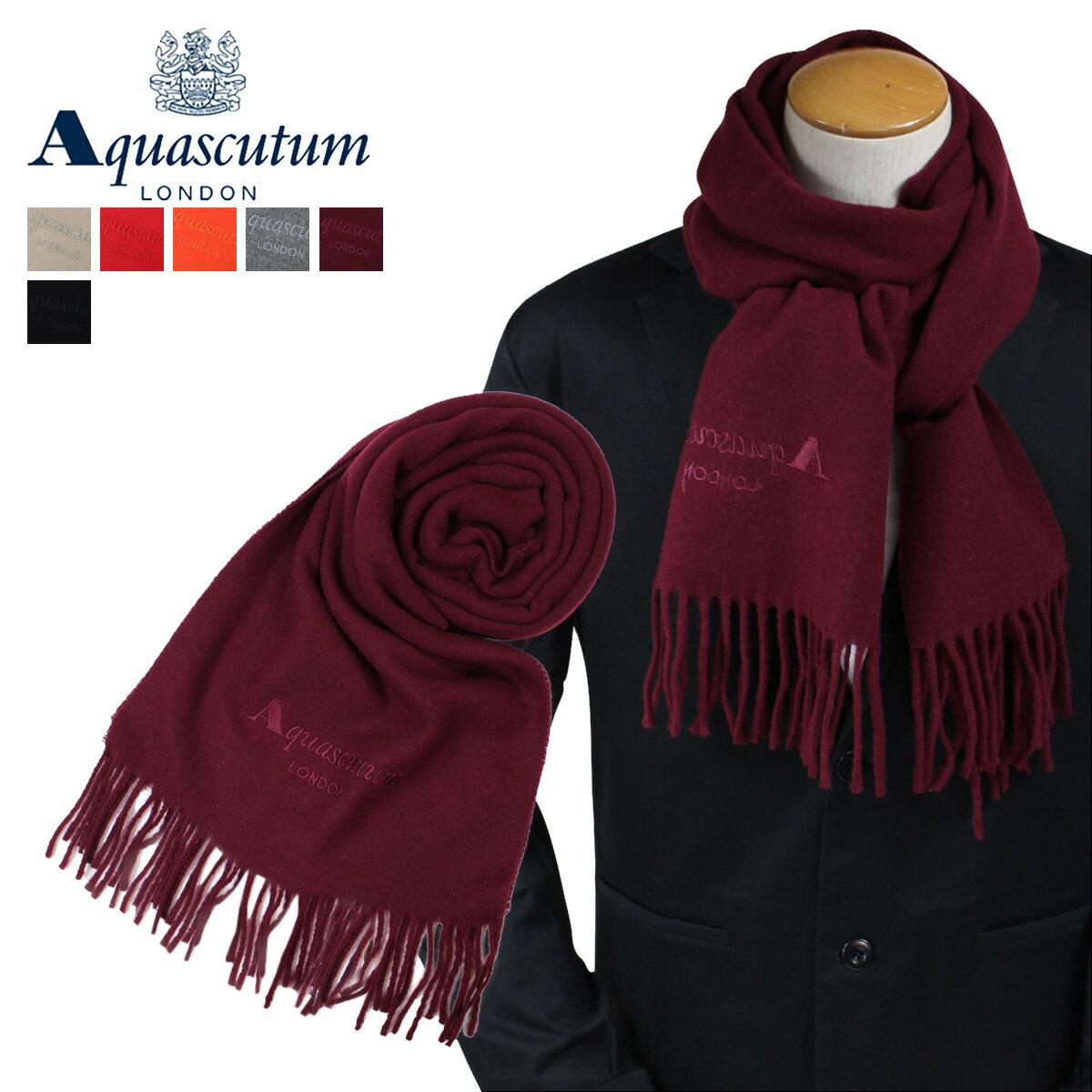 アクアスキュータム AQUASCUTUM マフラー レディース ウール イタリア製 ビジネス カジュアル メンズ