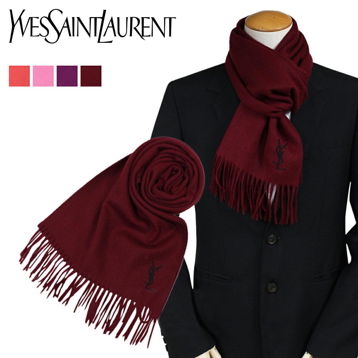 イヴサンローラン マフラー メンズ レディース YSL Yves Saint Laurent スカーフ ストール ウール ロゴ LOGO WOOL SCARF