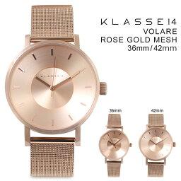 班14男子的KLASSE14 42mm 36mm女子的手錶VOLARE ROSE GOLD MESH vorare VO14RG003M VO14RG003W[2/15新進貨]