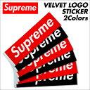 シュプリーム Supreme ステッカー ボックスロゴ VELVET LOGO STICKER シール ベルベット レッド ブラック