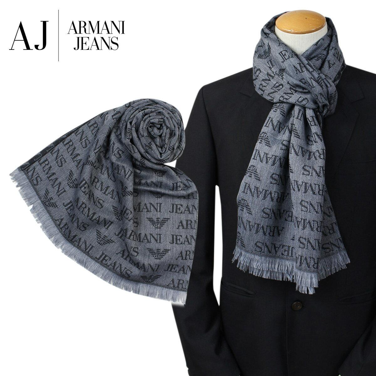 アルマーニ マフラー メンズ ARMANI JEANS ウール イタリア製 ビジネス カジュアル 934504 CC786