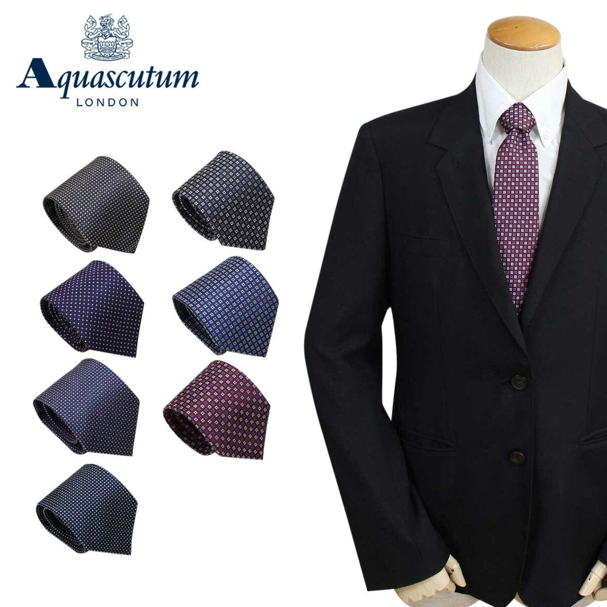アクアスキュータム AQUASCUTUM ネクタイ イタリア製 シルク ビジネス 結婚式 メンズ [4/24 追加入荷]