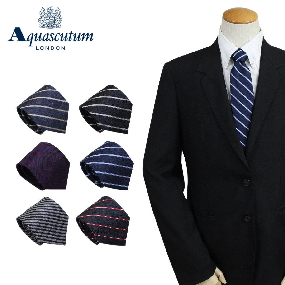 アクアスキュータム AQUASCUTUM ネクタイ イタリア製 シルク ビジネス 結婚式 メンズ [3/20 追加入荷]