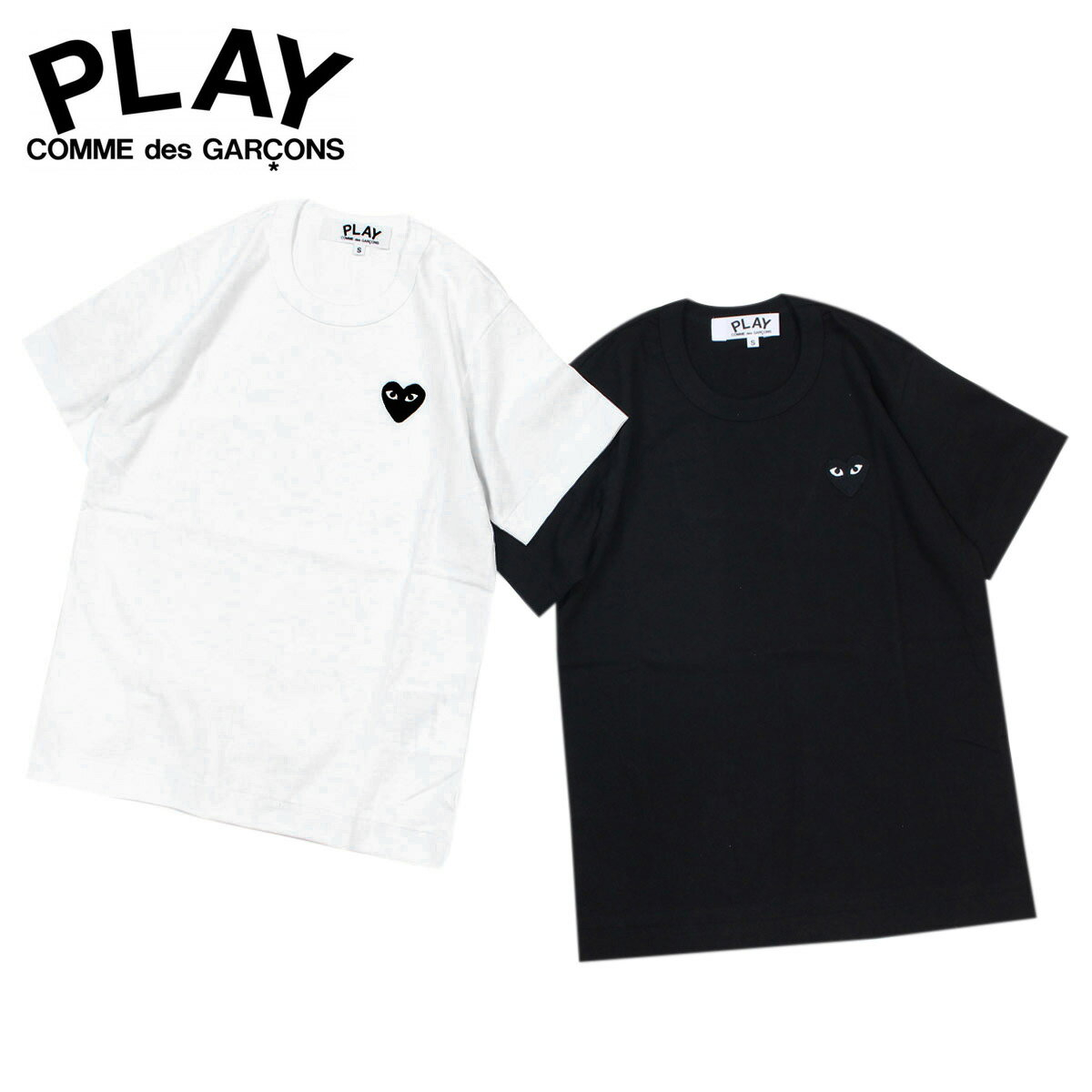コムデギャルソン PLAY Tシャツ 半袖 COMME des GARCONS レディース BLACK HEART T-SHIRT AZ-T063 ブラック ホワイト