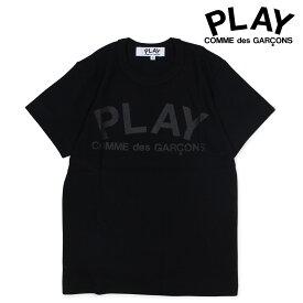 コムデギャルソン COMME des GARCONS PLAY Tシャツ レディース 半袖 PLAY T-SHIRT ブラック AZ-T187