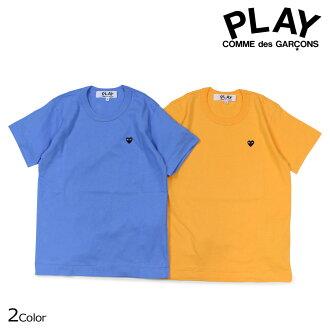 プレイコムデギャルソン PLAY COMME des GARCONS T-shirt short sleeves Lady's BLACK HEART T-SHIRT AZ-T213 blue yellow