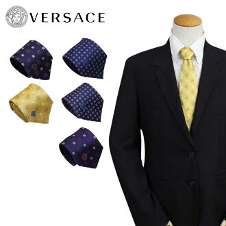 Business wedding ceremony [10/10 Shinnyu load] made in Italy with bell search tie silk Versace VERSACE men gift case