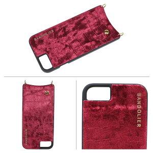 BANDOLIERバンドリヤーiPhone8iPhone77Plus6sケーススマホアイフォンプラスEMMAVELVETベルベットメンズレディースレッド